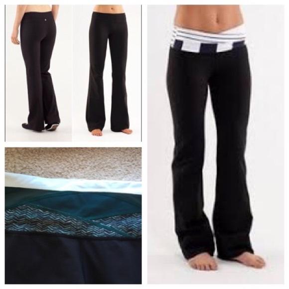 bdabf11e9 lululemon athletica Pants - Lululemon flare yoga pants- reversible- 6 long